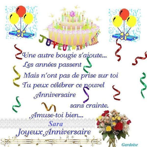 Joyeux anniversaire Sara