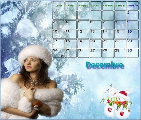 Calendrier de Décembre 2012