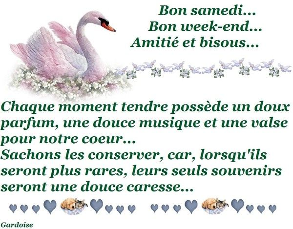 Bon samedi, bon week-end