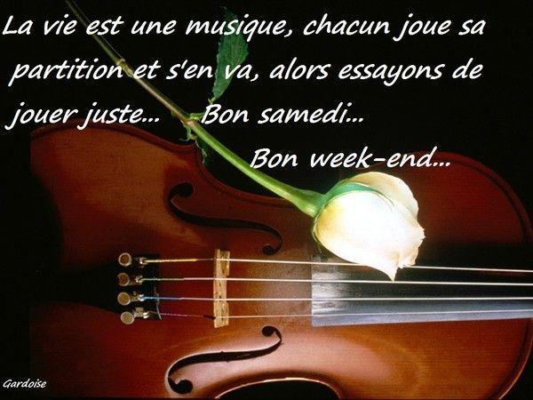 Samedi bon, bon week-end